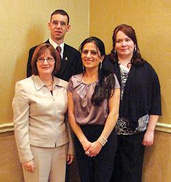 2009 LNS Writing Contest Winners L-R: Anne LeBlanc, Earl Leslie, Adele Abu el hosn, Marcia Jeffers
